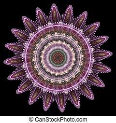 padrão floral, gerado, computador
