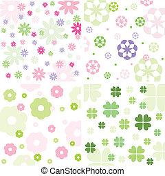 padrão floral, jogo