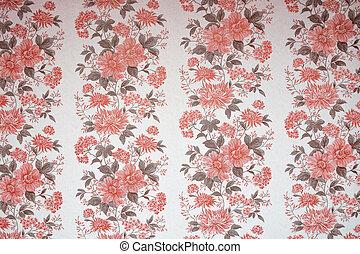 padrão floral, papel parede