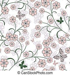 padrão floral, repetindo