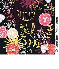 padrão floral, retro, fundo