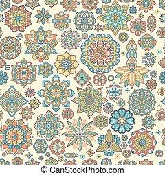 padrão floral, seamless, étnico