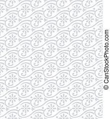 padrão floral, seamless, damasco