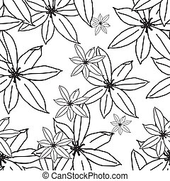 padrão floral, seamless, eps, 10
