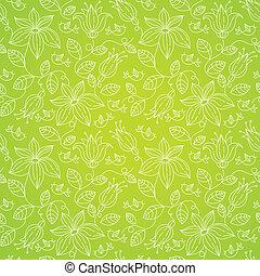 padrão floral, seamless, pássaros