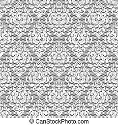 padrão floral, seamless, renda
