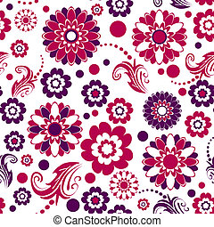 padrão floral, seamless, (vector)