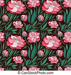 padrão floral, vetorial