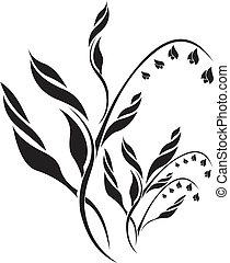padrão floral, vetorial, lírio, vale