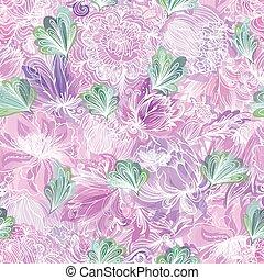 padrão floral, vetorial, romanticos