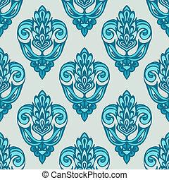 padrão floral, vetorial, seamless, damasco