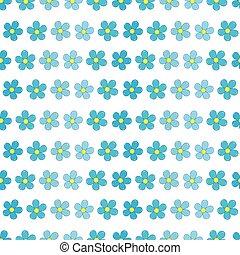 padrão, flores, miosótis, seamless
