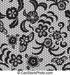 padrão, flores, renda, seamless