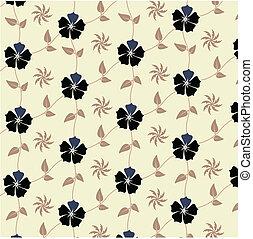 padrão, flores, seamless
