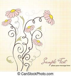 padrão, flores, seamless, fundo