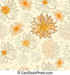 padrão, flores