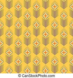 padrão, flores, vetorial, seamles, geométrico