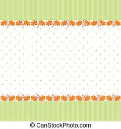 padrão folha, abstratos, seamless, saudação, outono, cartão