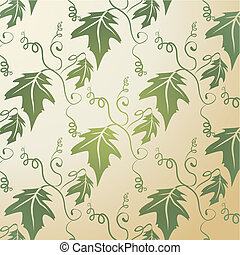 padrão, folha, fundo