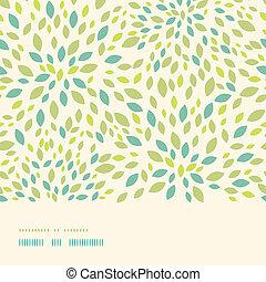 padrão folha, seamless, textura, fundo, horizontais, borda