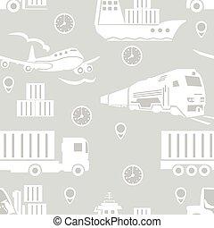 padrão, frete, transporte, seamless