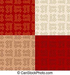 padrão, fu, chinês, seamless