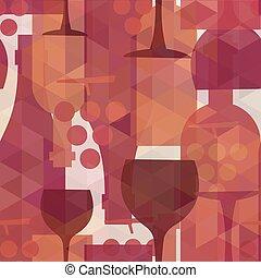 padrão, fundo, bebida, seamless, vinho