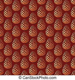padrão, fundo, cones pinho