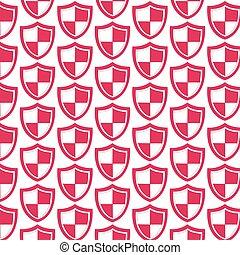 padrão, fundo, proteção, ícone