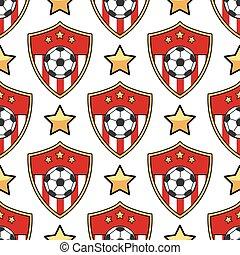 padrão, futebol, desporto, seamless