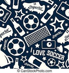 padrão, futebol, seamless