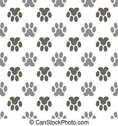 padrão, gato, seamless, animal, pata