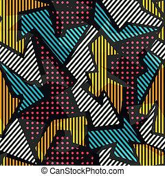 padrão, geomã©´ricas, colorido, seamless