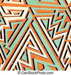padrão, geomã©´ricas, seamless, africano