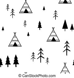 padrão, geomã©´ricas, seamless, escandinavo