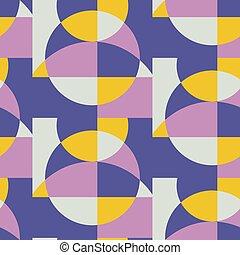 padrão geométrico, meio, século, retro, seamless