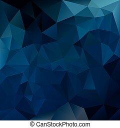 padrão geométrico, -, vetorial, safira, desenho, tessellation, irregular, triangular, cor experiência, polígono, escuro azul
