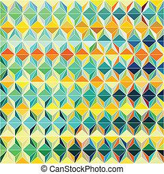 padrão, grade, coloridos