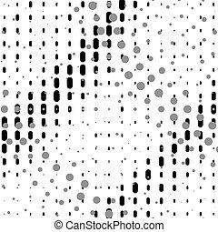 padrão, halftone, fundo, radial, ou, ponto