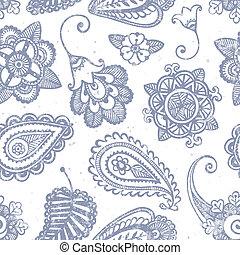 padrão, hand-drawn, seamless