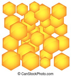 padrão, hexagonal
