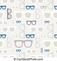 padrão, hipster, seamless, óculos