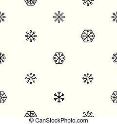 padrão, icon., snowflake, fundo, seamless
