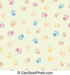 padrão, impressões, gatos, seamless, cachorros