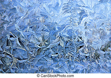 padrão, janela, gelado, superfície, vidro