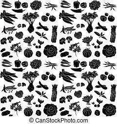 padrão, legumes