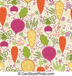 padrão, legumes, raiz, seamless, fundo