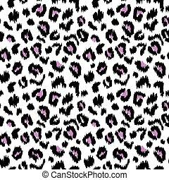padrão, leopardo, seamless, textura, vetorial, impressão