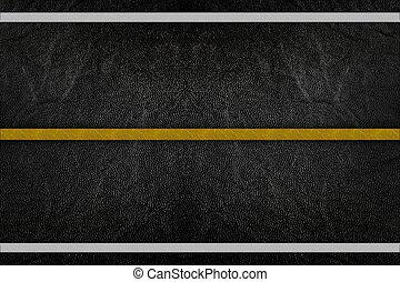 padrão, ligado, estrada, textura, com, listra amarelo