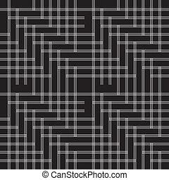 padrão, linha, pretas, branca